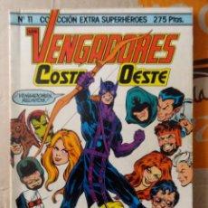 Comics : COLECCIÓN EXTRA SUPERHÉROES NÚM. 11. FORUM. VENGADORES COSTA OESTE. 1985. Lote 156536606