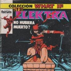 Cómics: ¿Y SI ELEKTRA NO HUBIERA MUERTO? Nº 7 COMICS FORUM. Lote 156629186
