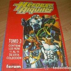 Cómics: HEROES DE ALQUILER. RETAPADO NUMEROS 11 A 14. FORUM.. Lote 156645846