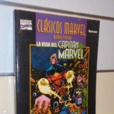 Cómics: CLASICOS MARVEL BLANCO Y NEGRO LA VIDA DEL CAPITAN MARVEL JIM STARLIN - FORUM - OFERTA. Lote 156646506