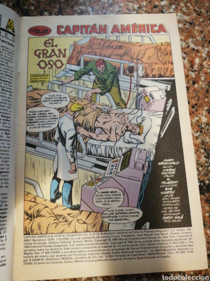 Cómics: Forum Comics Marvel, Capitan America, El Gran Oso n°12 - Foto 3 - 156767082