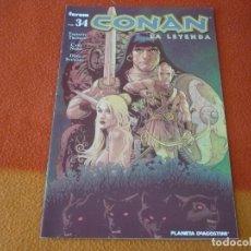 Cómics: CONAN LA LEYENDA Nº 34 ( TIMOTHY TRUMAN CARY NORD ) ¡MUY BUEN ESTADO! FORUM MARVEL. Lote 156865166