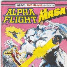 Cómics: ALPHA FLIGHT & LA MASA VOLUMEN 1. Nº 40 . 64 PÁGINAS.. Lote 156876318