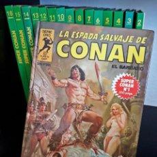 Cómics: SÚPER CONAN, LA ESPADA SALVAJE DE CONAN. COLECCIÓN COMPLETA DE 16 TOMOS VERDES 1ª EDICIÓN + REGALO.. Lote 156957534