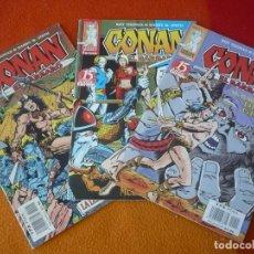 Cómics: CONAN EL BARBARO 2ª EDICION NºS 1, 2 Y 3 ( ROY THOMAS BARRY W. SMITH ) ¡BUEN ESTADO! FORUM MARVEL . Lote 156960390
