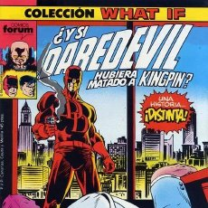 Cómics: WHAT IF? VOL.1 Nº 9 - FORUM. ¿Y SI DAREDEVIL HUBIERA MATADO A KINGPIN?. Lote 158713798