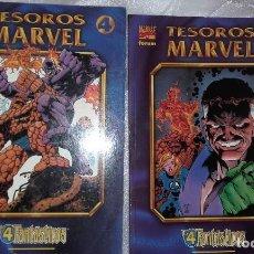 Cómics: LOS 4 FANTÁSTICOS, TESOROS MARVEL, LOS AÑOS PERDIDOS 2 TOMOS. Lote 158911358