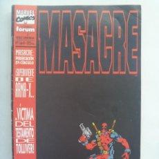 Cómics: MARVEL COMICS : MASACRE , Nº 1. Lote 195325492