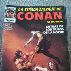 Fumetti: LA ESPADA SALVAJE DE CONAN EL BARBARO -- Nº 91 -- SERIE ORO -- FORUM -- . Lote 159045530