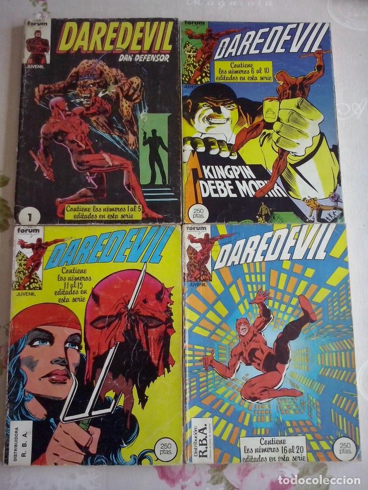 FORUM - DAREDEVIL VOL.1 COLECCION COMPLETA DE 40 NUM. EN RETAPADOS + NUM.1 COLECCIONABLE PLANETA (Tebeos y Comics - Forum - Daredevil)