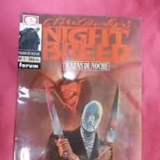 Cómics: NIGHT BREED. RAZAS DE NOCHE. Nº 1. FORUM. Lote 160046630