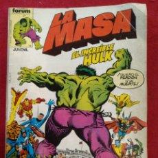 Cómics: LA MASA FORUM VOL. CONTIENE DEL N° 16 AL 20. Lote 160158461