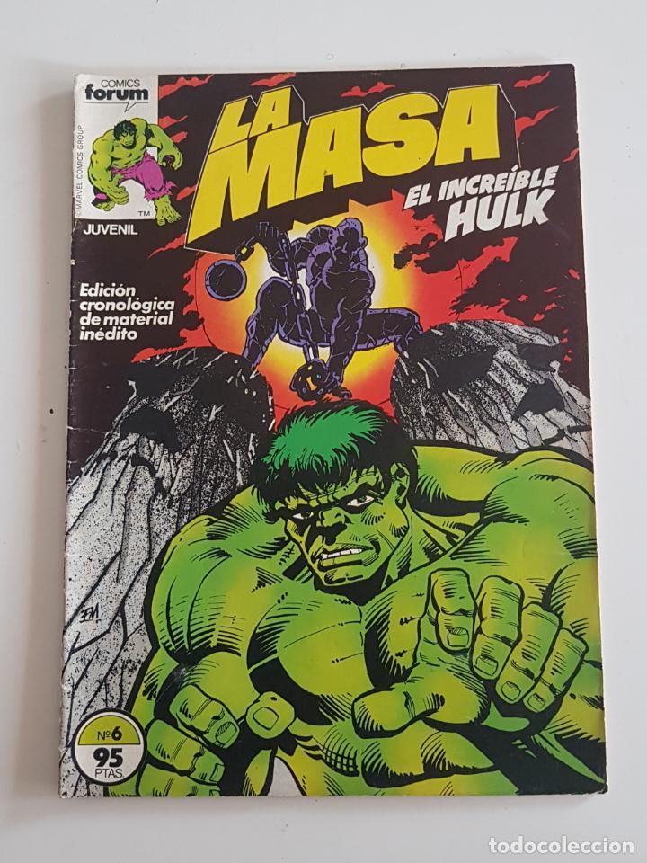 MARVEL COMICS - LA MASA VOL. 1 Nº 6 FORUM 1983 THE HULK AVENGERS VENGADORES (Tebeos y Comics - Forum - Hulk)