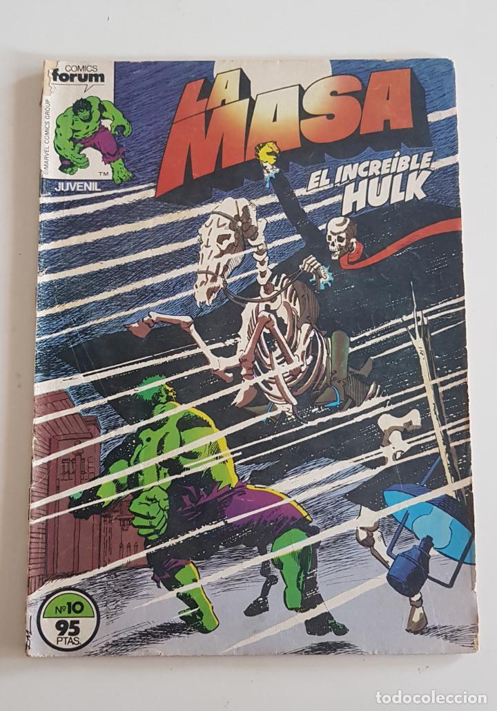MARVEL COMICS - LA MASA VOL. 1 Nº 10 FORUM 1983 THE HULK AVENGERS VENGADORES (Tebeos y Comics - Forum - Hulk)