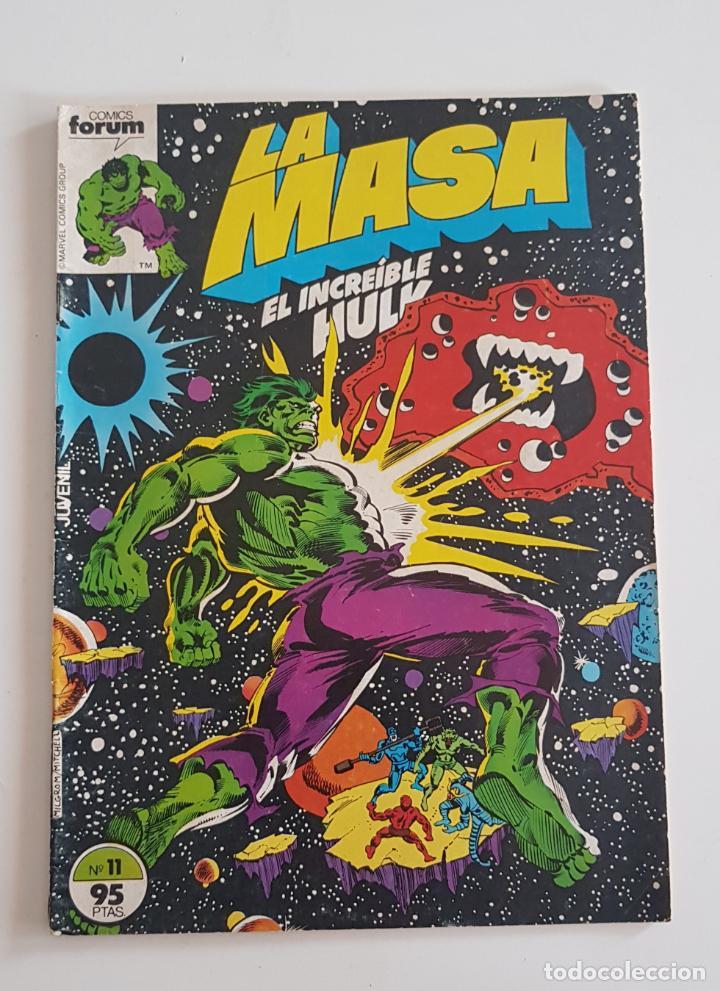 MARVEL COMICS - LA MASA VOL. 1 Nº 11 FORUM 1983 THE HULK AVENGERS VENGADORES (Tebeos y Comics - Forum - Hulk)