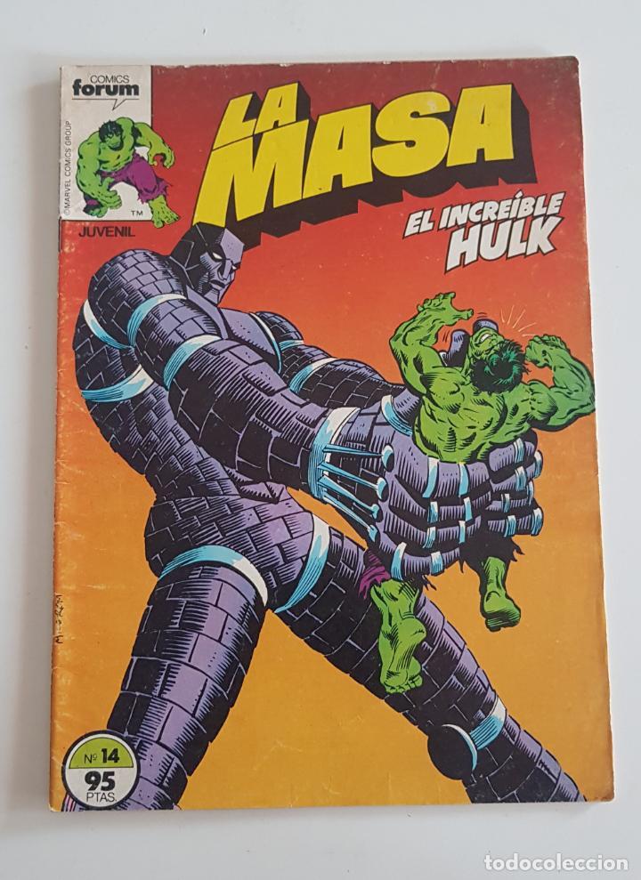 MARVEL COMICS - LA MASA VOL. 1 Nº 14 FORUM 1983 THE HULK AVENGERS VENGADORES (Tebeos y Comics - Forum - Hulk)