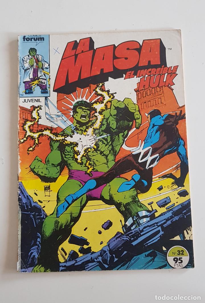MARVEL COMICS - LA MASA VOL. 1 Nº 32 FORUM 1985 THE HULK AVENGERS VENGADORES (Tebeos y Comics - Forum - Hulk)