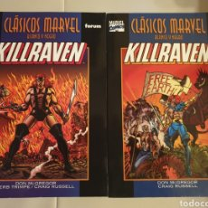 Cómics: KILLRAVEN: CLASICOS MARVEL B/N COLECCION COMPLETA. Lote 160737782