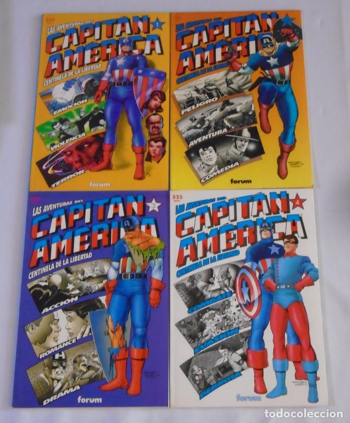 LAS AVENTURAS DEL CAPITÁN AMÉRICA - PLANETA-DEAGOSTINI (FORUM) - COL. PRESTIGIO 40, 42, 44 Y 46 (Tebeos y Comics - Forum - Capitán América)
