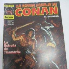 Comics: LA ESPADA SALVAJE DE CONAN Nº 58 FORUM MUCHOS MAS ALA VENTA BUEN ESTADO CX12. Lote 161522438