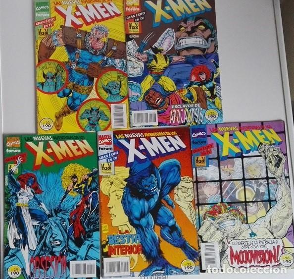LAS NUEVAS AVENTURAS DE LOS X MEN, NºS 22, 23, 24, 25 Y 26 COMICS FORUM (Tebeos y Comics - Forum - X-Men)