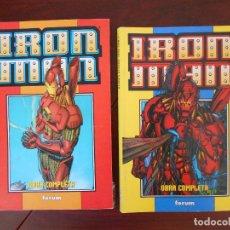 Cómics: IRON MAN HEROES REBORN OBRA COMPLETA - 12 NUMEROS EN 2 TOMOS RETAPADOS - FORUM (GC). Lote 163726250