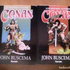 Cómics: CONAN. LOS MEJORES AUTORES. JOHN BUSCEMA 1 Y 2 . Lote 164576874