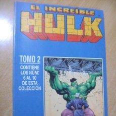 Comics: EL INCREÍBLE HULK - TOMO 2 - Nº 6 AL 10- ED. FORUM. Lote 164605922