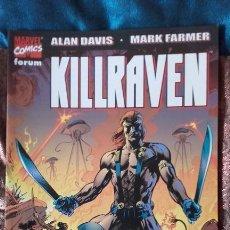 Cómics: KILLRAVEN: LA GUERRA DE LOS MUNDOS, TOMO QUE RECOGE LA MINISERIE COMPLETA, CON ALAN DAVIS. Lote 164902734