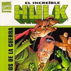 Cómics: EL INCREIBLE HULK: LOS PERROS DE LA GUERRA - TOMO - FORUM - DESCUENTO 20%¡¡¡. Lote 164940426