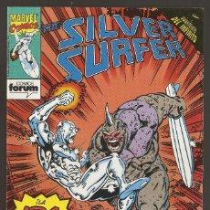 Fumetti: THE SILVER SURFER - Nº 16 - ESTELA PLATEADA - CRUCE CON EL GUANTELETE DEL INFINITO - FORUM -. Lote 165400970
