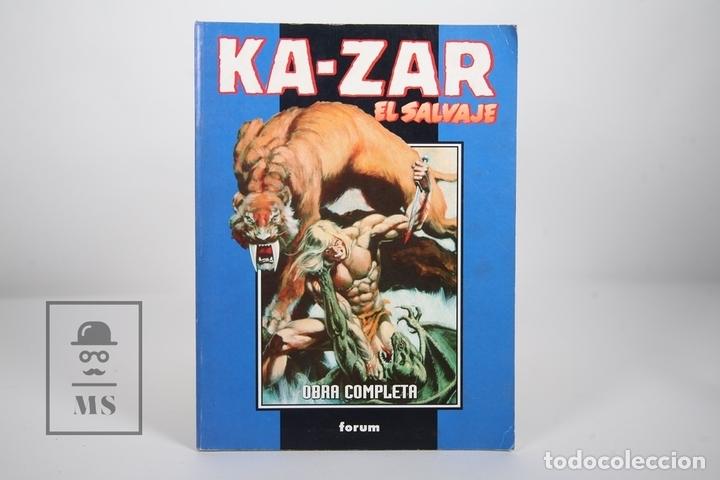 CÓMIC - KA-ZAR EL SALVAJE / OBRA COMPLETA - 1 A 3 RETAPADO - EDITORIAL FORUM - AÑO 1999 (Tebeos y Comics - Forum - Retapados)