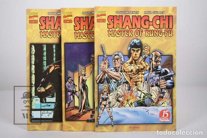 CÓMIC - SHANG-CHI MASTER DE KUNG-FU / 3 TOMOS - EDITORIAL FORUM - AÑO 1999 (Tebeos y Comics - Forum - Prestiges y Tomos)