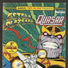 Cómics: MARVEL TWO IN ONE - ESTELA PLATEADA & QUASAR - Nº 25 - EL REGRESO DE THANOS - FORUM -. Lote 165549502