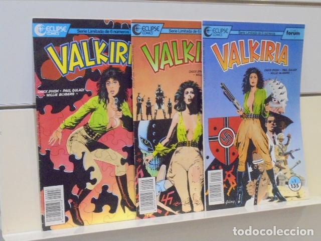 LOTE 3 NUMEROS VALKIRIA Nº 1-2 Y 3 ECLIPSE COMICS - FORUM - (Tebeos y Comics - Forum - Otros Forum)