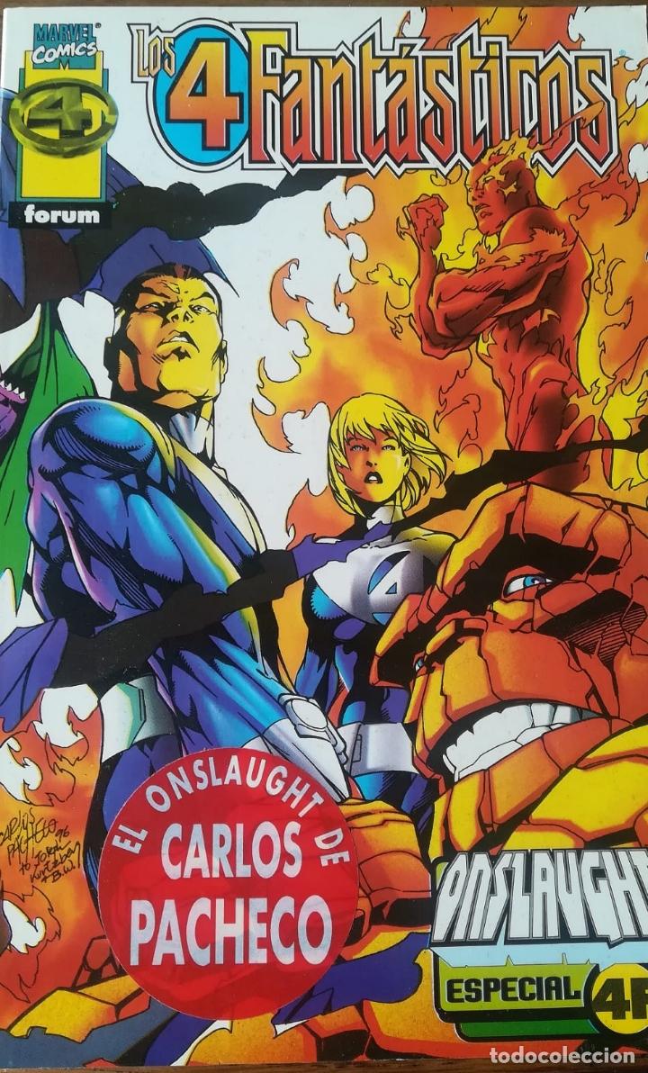 LOS 4 FANTASTICOS ONSLAUGHT CARLOS PACHECO (Tebeos y Comics - Forum - 4 Fantásticos)