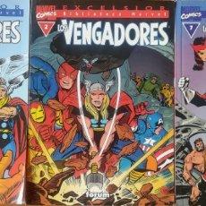 Cómics: BIBLIOTECA MARVEL LOS VENGADORES 1,2,7. Lote 165929848