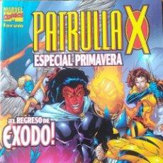 Cómics: PATRULLA X ESPECIAL PRIMAVERA EL REGRESO DE EXODO. Lote 165975862