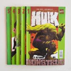 Cómics: MARVEL COMICS - EL INCREIBLE HULK VOL. 2 Nº 1 AL 5 FORUM PLANETA DE AGOSTINI . Lote 167578528