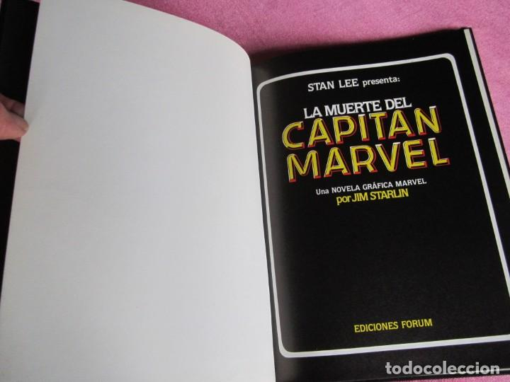 Cómics: LA MUERTE DEL CAPITAN MARVEL TOMO 2 TAPA DURA FORUM. - Foto 6 - 167869500