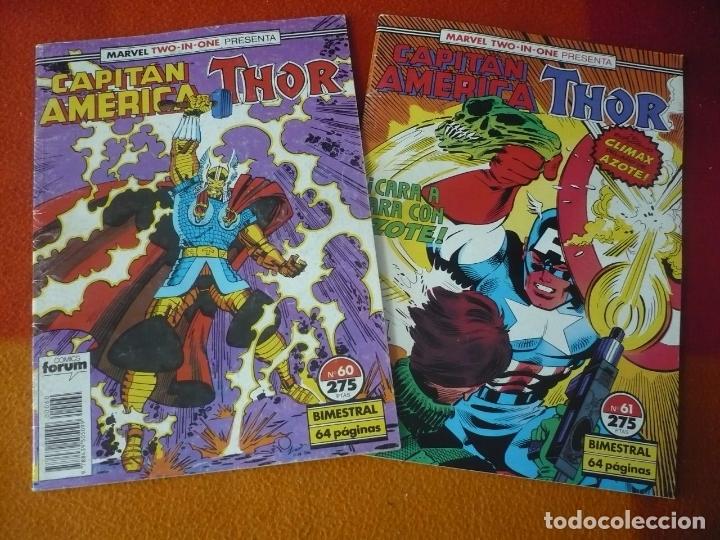 CAPITAN AMERICA THOR VOL. 1 60 Y 61 ( SIMONSON GRUENWALD ) ¡BUEN ESTADO! FORUM MARVEL TWO IN ONE (Tebeos y Comics - Forum - Capitán América)