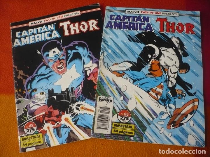 CAPITAN AMERICA THOR VOL. 1 62 Y 63 ( SIMONSON GRUENWALD ) ¡BUEN ESTADO! FORUM MARVEL TWO IN ONE (Tebeos y Comics - Forum - Capitán América)