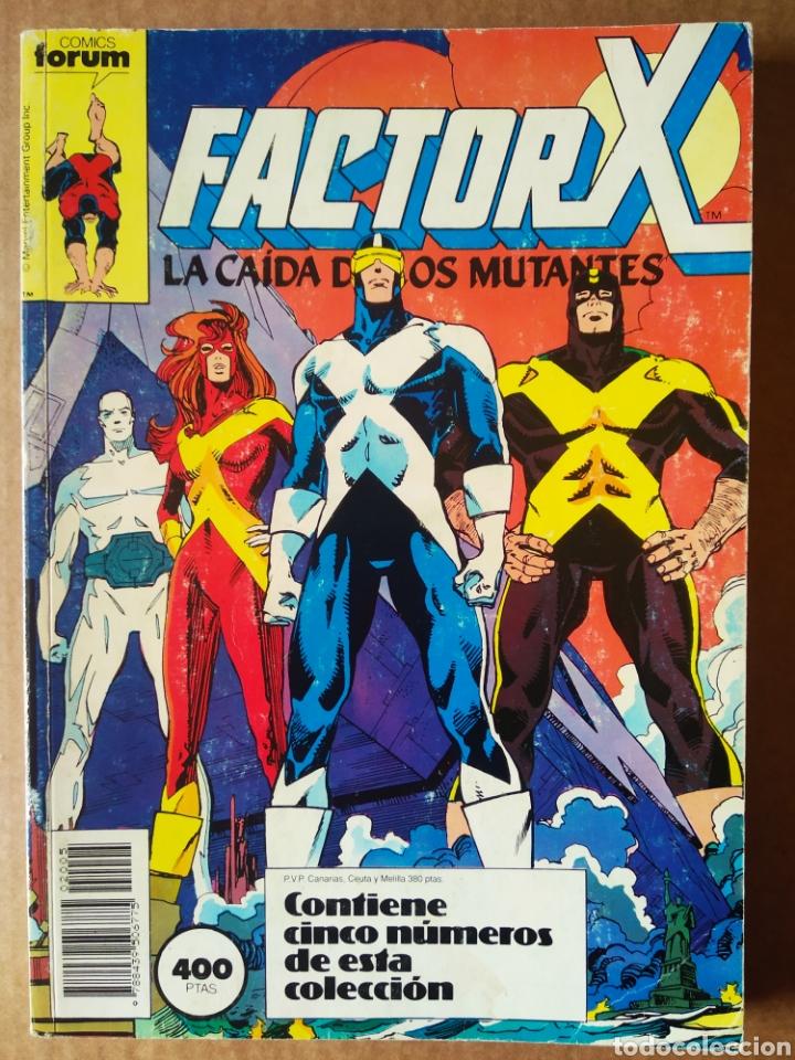 RETAPADO FACTOR X (CÓMICS FORUM, 1989). INCLUYE LOS NÚMEROS 21-22-23-24-25. CON POWER PACK. (Tebeos y Comics - Forum - Factor X)
