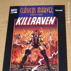 Cómics: CLASICOS MARVEL BLANCO Y NEGRO KILLRAVEN 1. Lote 168137136