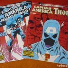 Cómics: CAPITAN AMERICA THOR VOL. 1 70 Y 71 ( GRUENWALD DEFALCO ) ¡MUY BUEN ESTADO! FORUM MARVEL TWO IN ONE. Lote 168141848