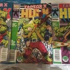 Cómics: HULK VS FACTOR-X (OBRA COMPLETA 3 NÚMEROS) - FORUM. Lote 168333204