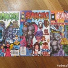 Cómics: ABOMINACIONES , COMPLETA LOTE 3 COMICS, MARVEL COMICS, FORUM. Lote 168422736