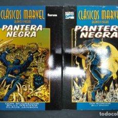 Cómics: CLÁSICOS MARVEL EN BLANCO Y NEGRO - PANTERA NEGRA - COMPLETA - 2 TOMOS FORUM MARVEL. Lote 168949564