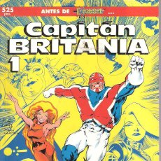 Cómics: CAPITÁN BRITANIA (4 NÚMEROS) (COMPLETA). Lote 169320512