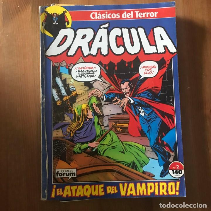 CLÁSICOS DEL TERROR - DRACULA - FORUM - DEL Nº 2 AL 5 ENCUADERNADOS (Tebeos y Comics - Forum - Retapados)